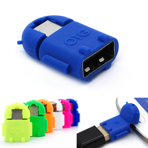 Android Universal Micro USB To USB 20 Robot OTG Adapter