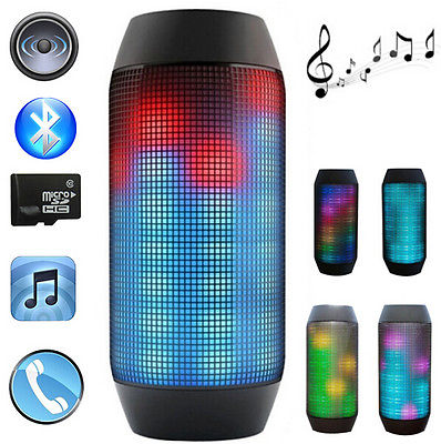 pulse wireless bluetooth speaker magic dancing colorful. Black Bedroom Furniture Sets. Home Design Ideas
