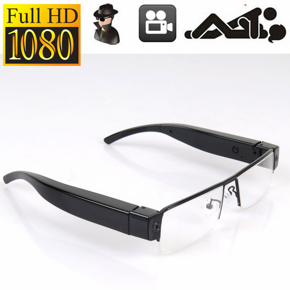 ee432318d7 Spy Glasses Full HD 1080P Spy Hidden Camera Security Eyewear Cam DVR Video  Recorder Mini Eyeware Sunglasses Camera