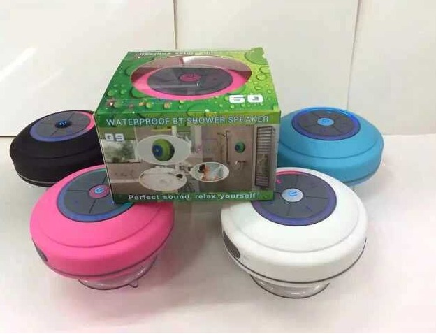 New Sucker Dustproof Bathroom Waterproof Wireless Bluetooth Speaker With  LED Light Car Shower Speaker Handfree Many Colors Q9  Spy Bug Cell TV Video  Audio ...