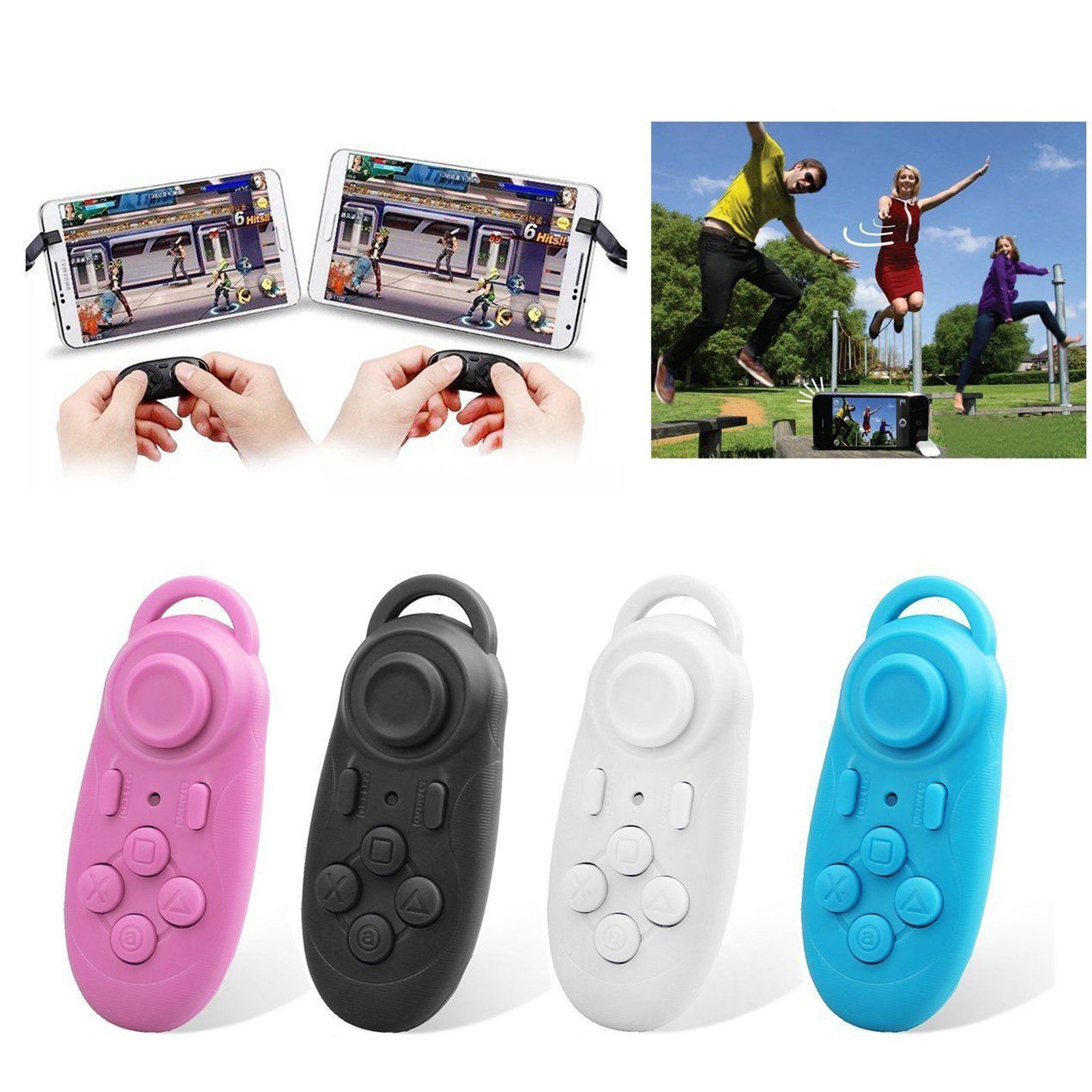 122958788995 Wireless Bluetooth Gamepad   Selfie Shutter Remote Control Compatible with 3D  VR Glasses Google Cardboard Selfie Camera Shutter Wireless Mouse Music  Player ...